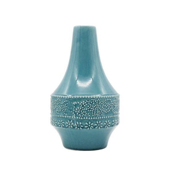 Teal Blue Vase Homewares - Large