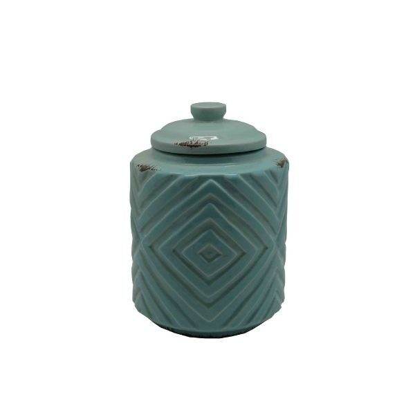 Pastel Green Diamond Homewares Jar Small