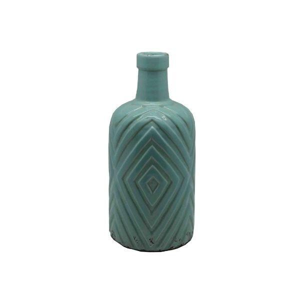 Pastel Green Diamond Vase Homewares - Large