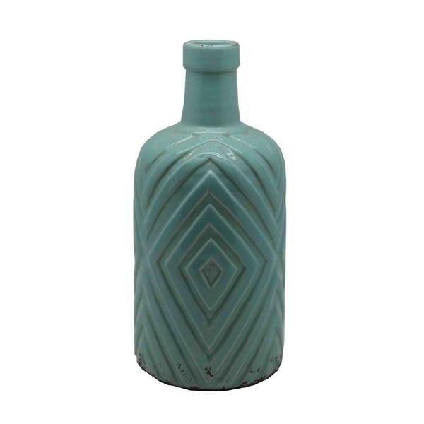 Pastel Green Diamond Vase Homewares Large