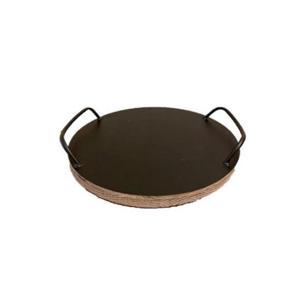 Round Homewares Tray - Medium Black