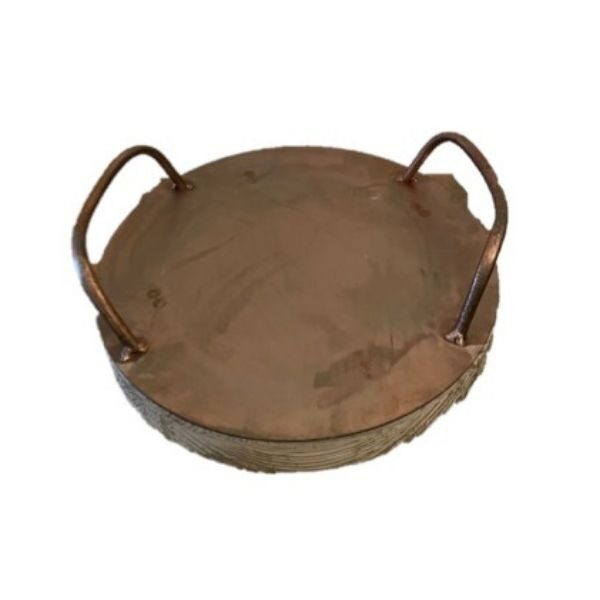 Round Homewares Tray - Large Copper