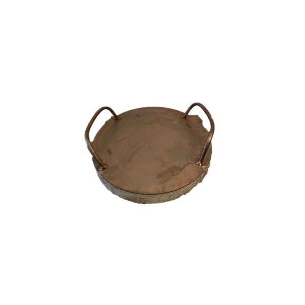 Round Homewares Tray - Small Copper