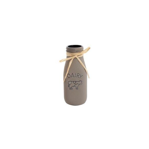 Milk Bottle Vase - Brown