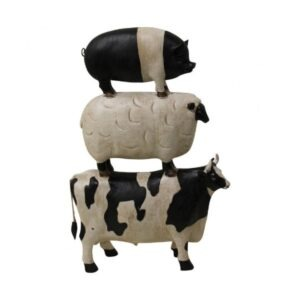 Stacked Farmhouse Animals Homeware Decor
