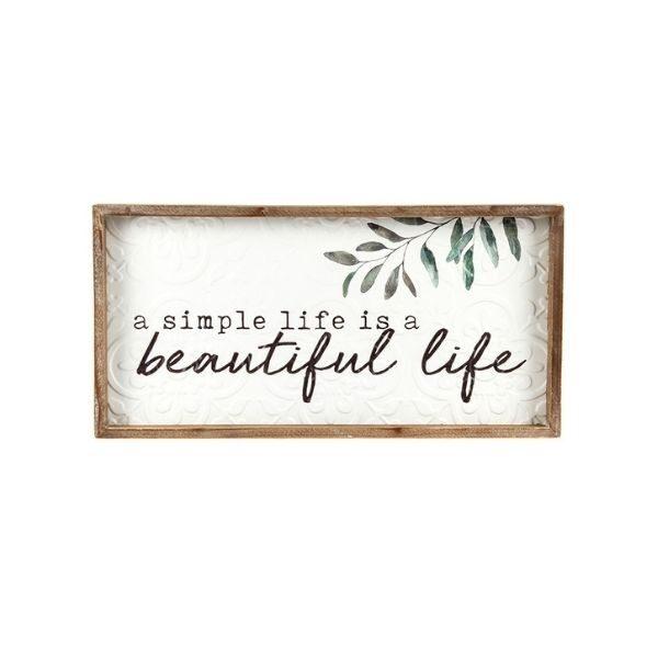 Beautiful Life Wall Sign Farmhouse Homewares