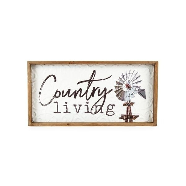 'Country Living' Sign